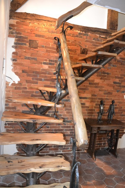escalier fer forgé et bois Le Valégant Création # Escalier Fer Forgé Et Bois
