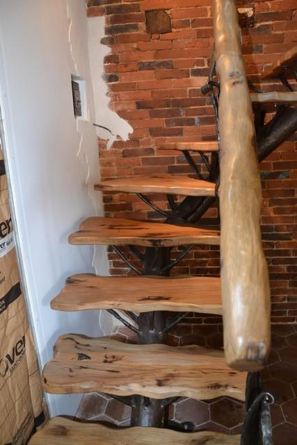 Escalier Bois Fer Forgé - escalier sur mesure Le Valégant Création