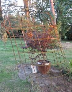 gloriette endommagée après un orage