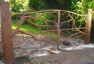portail métal arbre  sans taule