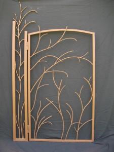 portillon métal d'inspiration végétale pour intérieur ou extérieur