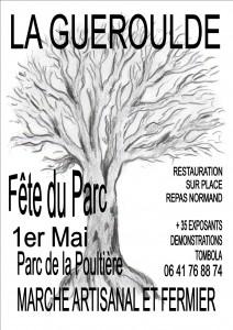 affiche fête du parc La Guéroulde