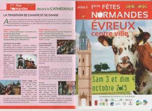 Fête Normande 3-4 oct 2015 à Evreux