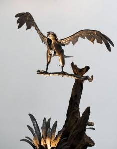 aigle en fer forgé