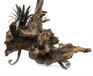 sculpture aigle en fer forgé détail