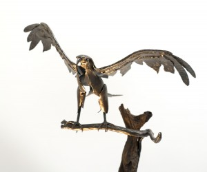 sculpture aigle en fer forgé